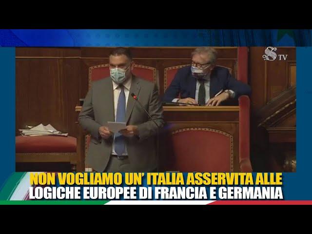Il Sen. De Carlo interviene come relatore di minoranza sulle misure connesse all'emergenza COVID-19
