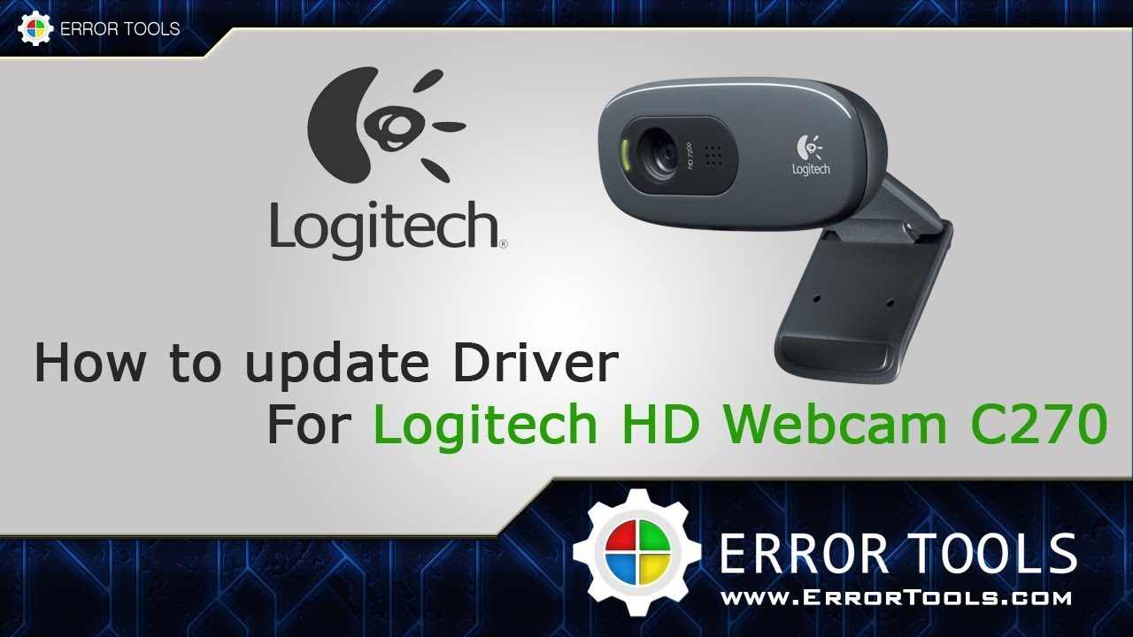 How To Update Drivers For Logitech Hd Webcam C270 Youtube