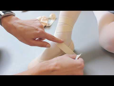 HOW to attach elastic bands to soft ballet shoes Tutorial