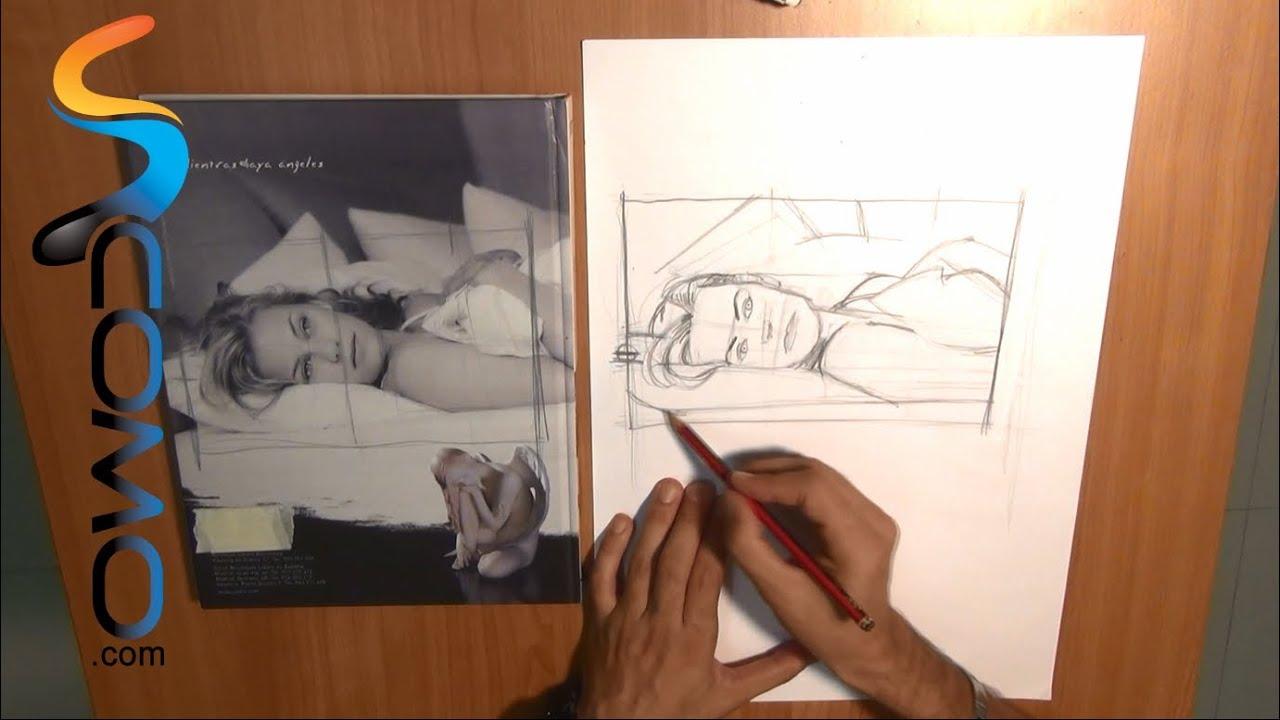 Cómo hacer el encuadre de un dibujo (segunda parte) - YouTube