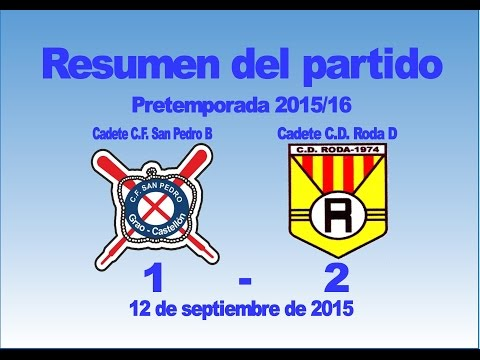 Resumen partido Cadete San Pedro B 1 - Roda D 2