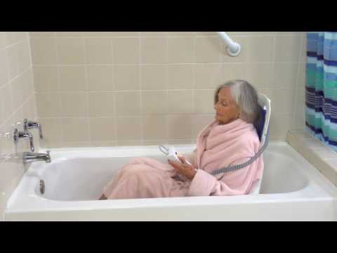 Drive Medical Bellavita Auto Bath Tub Chair Seat Lift & Drive Medical Bellavita Auto Bath Tub Chair Seat Lift - YouTube
