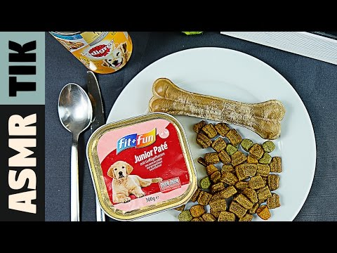 Eating DOG FOOD!!!  Dinner #40 | ASMR eating sounds no talk