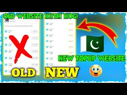 FREE FIRE TOPUP NEW WEBSITE IN PAKISTAN || FREE FIRE TOPUP WEBSITE || FREE FIRE TOPUP
