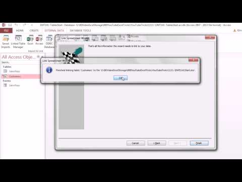 Excel Magic Trick 1141: Link Access Table To Excel Data Source