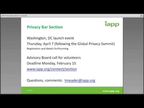 IAPP Privacy Bar Section Announcement
