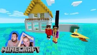 NINAS HAUS AUF DEM WASSER vs KAANS HAUS AUF DEM SEE! Welches Haus schwimmt? Minecraft Build Battle