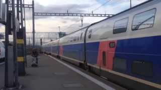 TGV Lyria, TGV 9218 + TGV 9211 Zurich - Paris / in Zurich and Basel