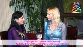 "Anita Lerche ""Gori Heer from Denmark"" Having GUP SHUP_Interview with Arti for Desi TV Australia"