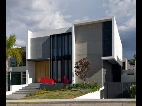 Dise o de casa moderna de dos plantas planos y fachadas for Diseno de interiores de casas de dos plantas