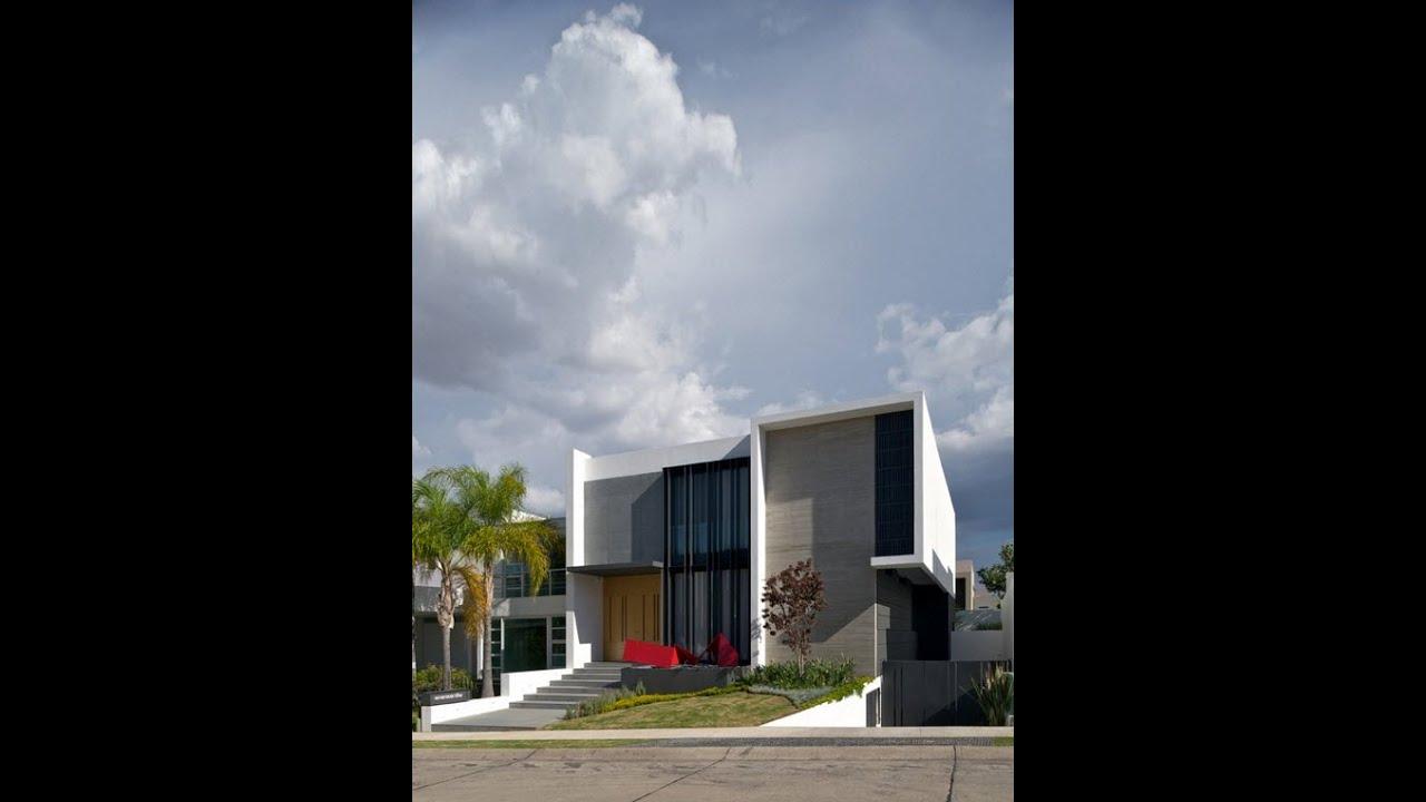 Dise o de casa moderna de dos plantas planos y fachadas youtube - Planos de chalets modernos ...