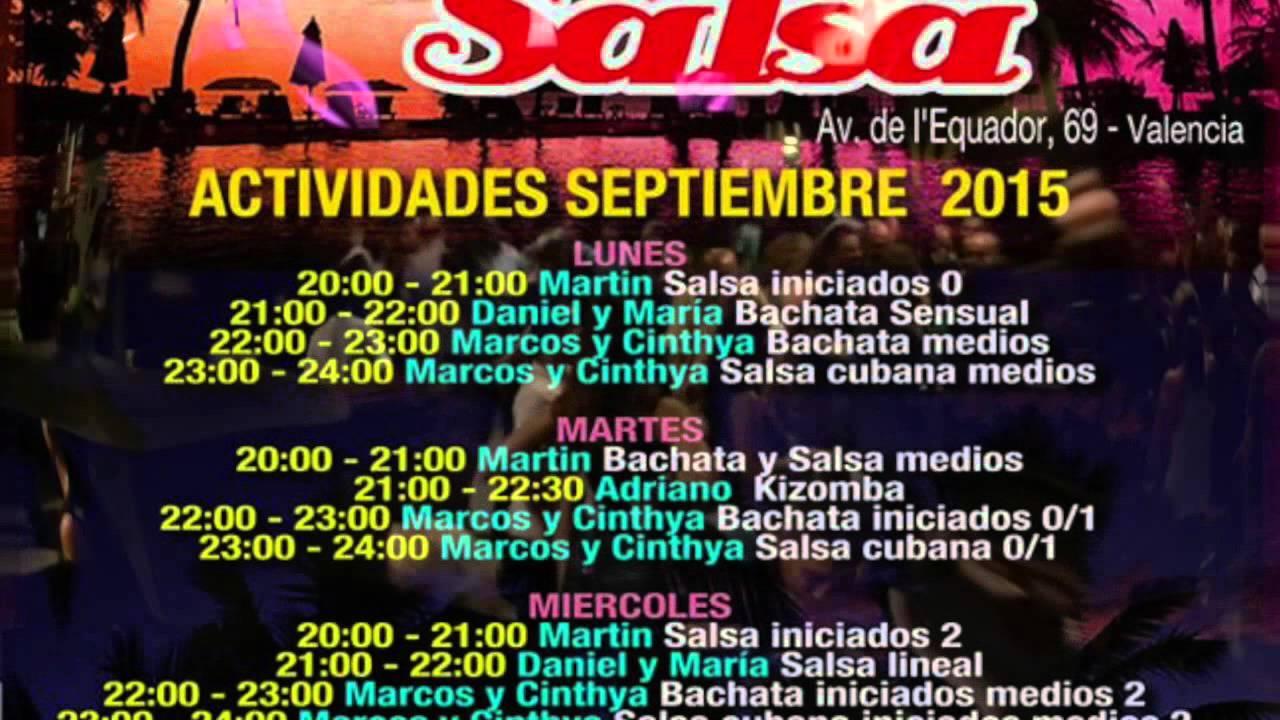 NOCHES DE SALSA VALENCIA Avda.EcuadoR. Nº 69 DOMINGO SOCIAL - YouTube