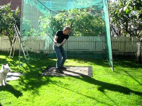 Backyard Driving Range kjells homemade driving range - youtube
