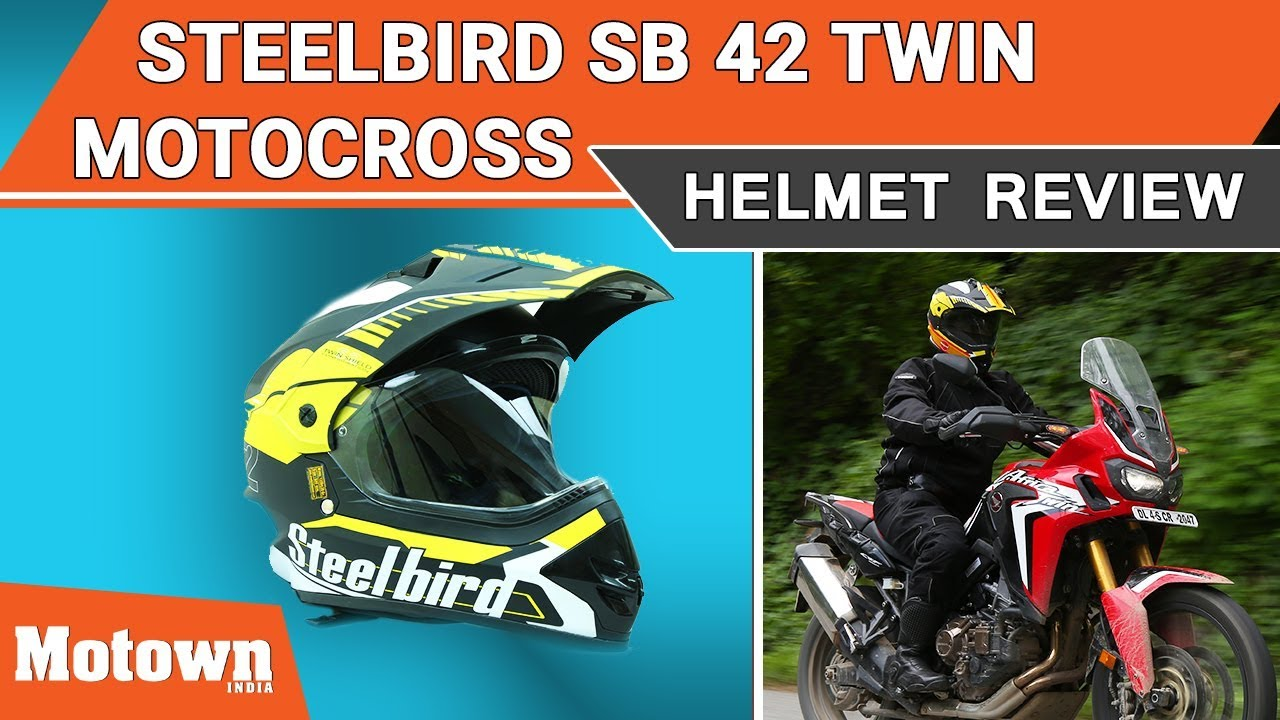 c9e912cd Steelbird SB 42 Twin Motocross Helmet Review | Special Feature | Motown  India
