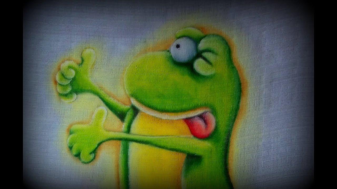 Como pintar sapinho pintura em tecido youtube - Pintura de pared ...