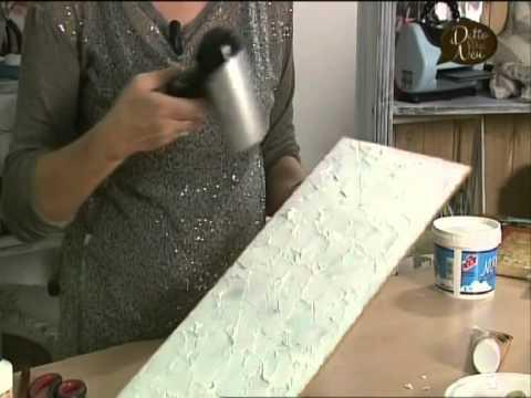Manidilara decoupage materico pannello decorativo  YouTube