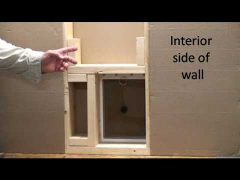 Step 2 How To Install A Small Pet Door Into An Exterior Wall Positioniong Into Wall Cavity