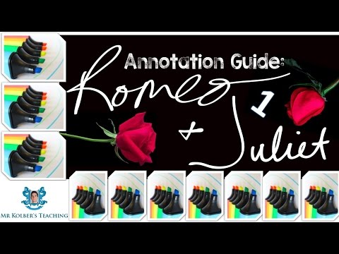 Romeo and Juliet Annotation Guide 1: Themes /Symbols /Motifs