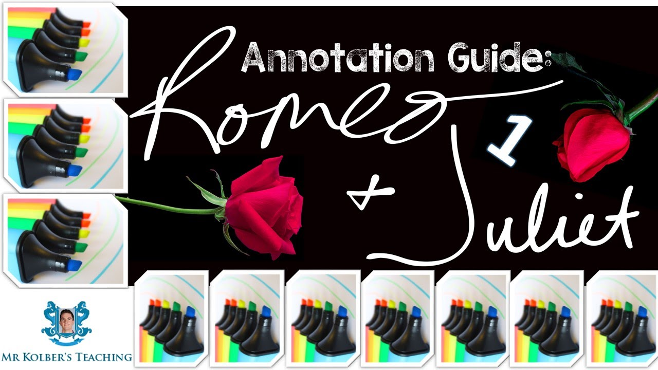 Romeo And Juliet Annotation Guide 1 Themes Symbols Motifs Youtube