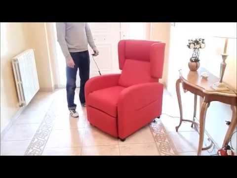 Sill n relax levanta personas con ruedas furnet youtube for Sillon relax con ruedas