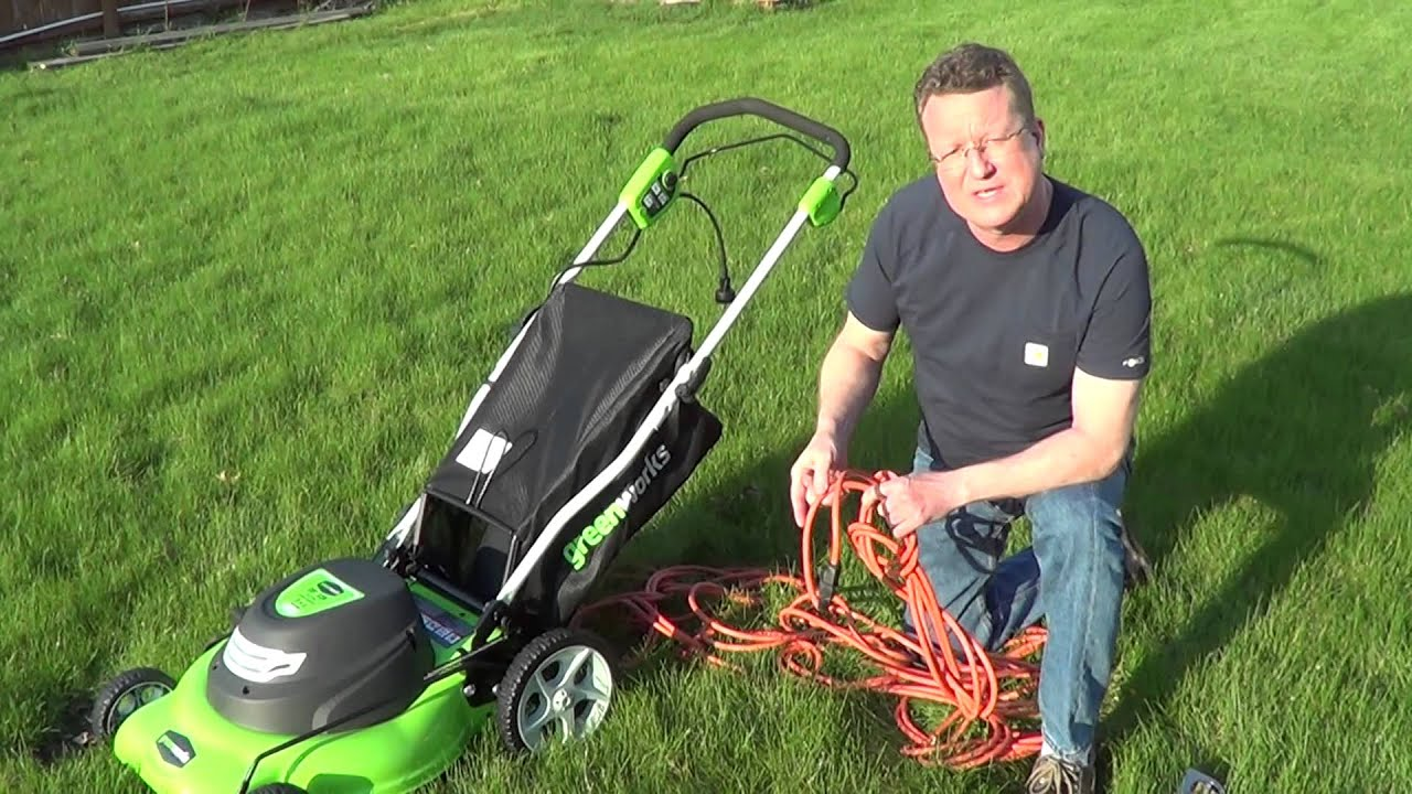 Electric Lawn Mower Extension Cord - YouTube