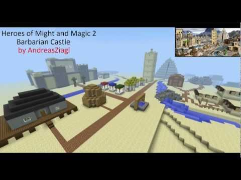 Minecraft - Heroes of Might and Magic 2 Barbarian Castle Map with Download