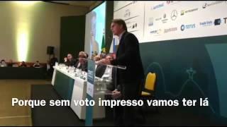 Jair Bolsonaro fala para transportadores: em 2018 vocês decidirão!