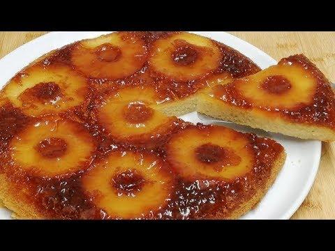 gÂteau-a-l'ananas-caramÉlisÉ-cuit-a-la-poÊle-Économique-et-facile-(cuisine-rapide)
