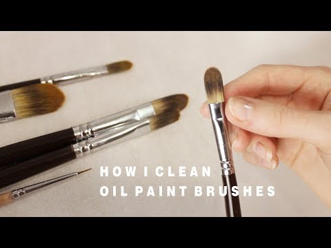 HOW I CLEAN OIL PAINT BRUSHES
