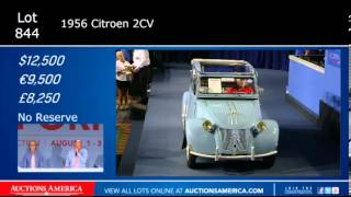 1956 Citroen 2CV Lot 844 sold at Auctions America Burbank August 3, 2013