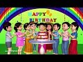 Happy Birthday Song  3D Animation English Nursery Rhymes & Songs For Children