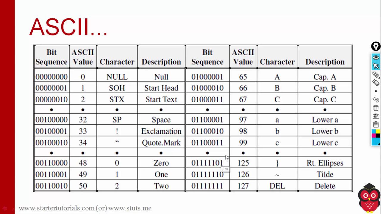 13  Bytes and ASCII