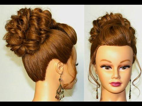 Прическа для длинных волос. Пучок на основе  жгутов