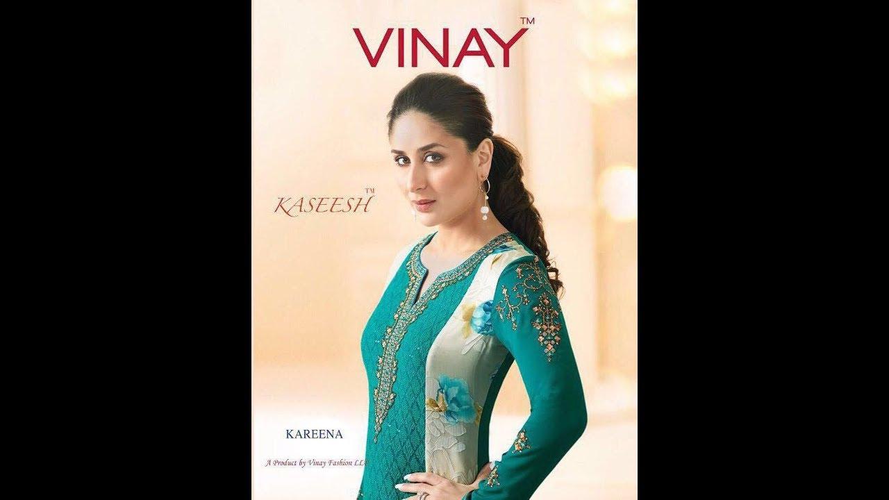 128d362115 Latest Indian Dresses Collections 2017 || Vinay Fashion || Kaseesh-Kareena