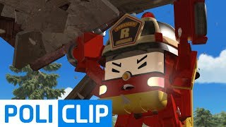 Come out before the house collapses!  | Robocar Poli Rescue Clips