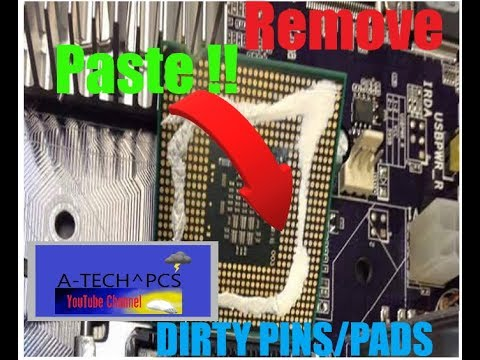 ✳ How Too Remove Thremal Paste From CPU PINS/PADS ❂