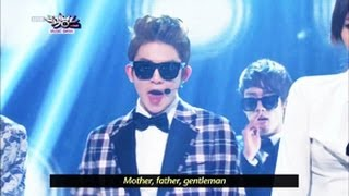 GENTLEMAN - Teen Top & Girl's Day (2013.05.11) [Music Bank w/ Eng Lyrics]