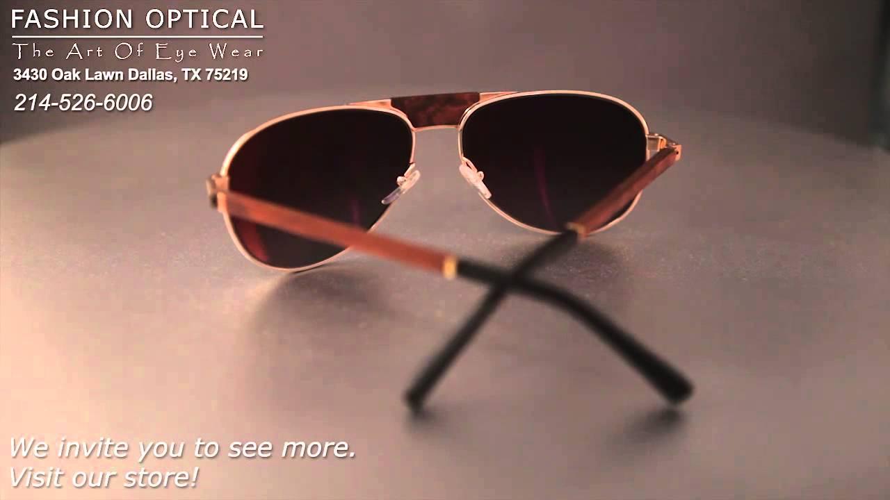 09faf59e62 Gold and Wood Sunglasses