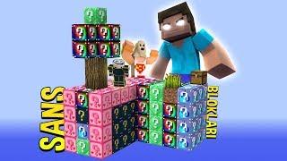 ŞANS BLOKLARI VS HEROBRINE ! (Minecraft'taki En Uzun Kılıç !)