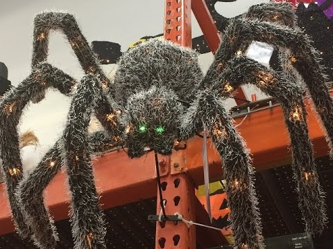 Spider At Home Depot Halloween 2016 Edited For Kids San