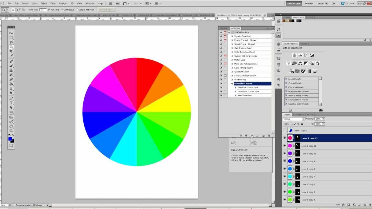 OMVT Create A Colorwheel In Photoshop One Minute