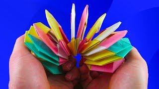 Как сделать радугу пружинку из бумаги без клея! How to make a paper Slinky