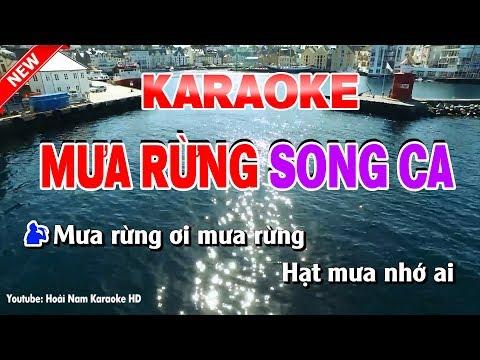 Karaoke Mưa Rừng - mưa rừng karaoke nhạc sống song ca