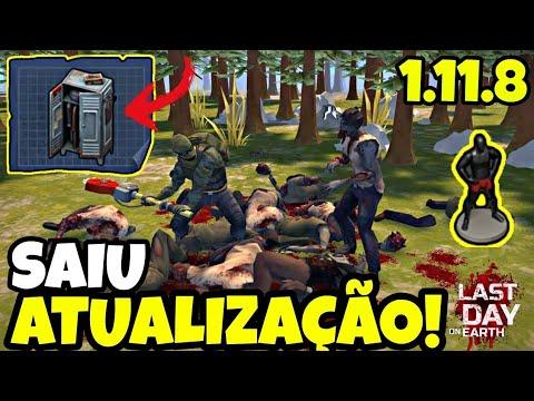 SAIU!!! ATUALIZAÇÃO 1.11.8! CASAS INCENDIADAS, NOVO MAPA, GUARDA ROUPAS! Last Day On Earth
