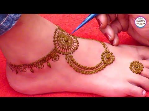 Easy Mehndi Designs In Leg