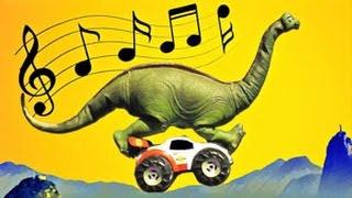 En Gammal Brachiosaurus - Musikvideo om dinosaurier för barn - sång, video, barnmusik, bil