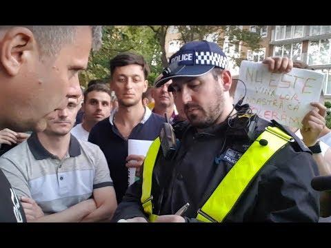Politia din Londra apare la protestul anti-PSD. Jandarmeria Română să ia lecții