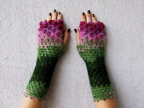 These Dragon Gloves With Crochet Scales Youtube