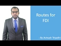 Lecture on Routes for Foreign Direct Investment