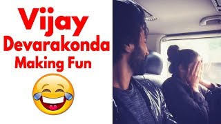 Vijay Devarakonda Making Fun with Actress Izabelle Leite | Latest Video | Daily Culture